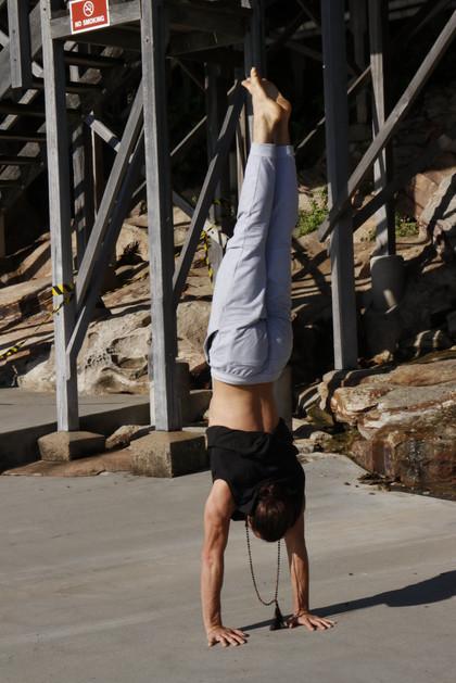 Handstand at Wylies - Joao da Costa Yoga