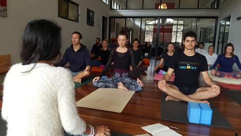 Marja Yoga Retreat Yoga Class Centering