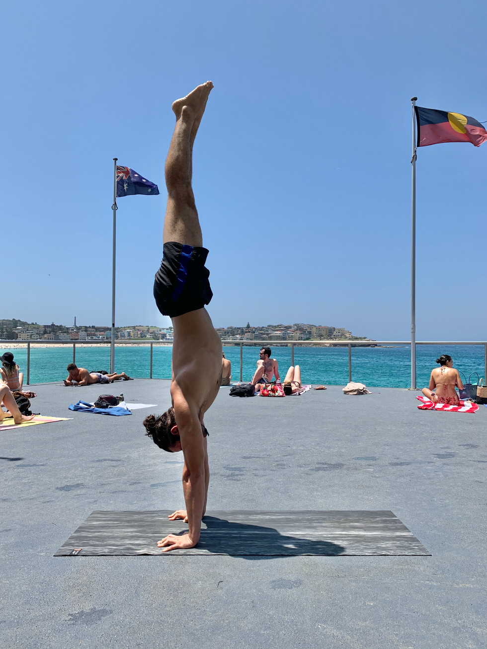 Handstand at Icebergs