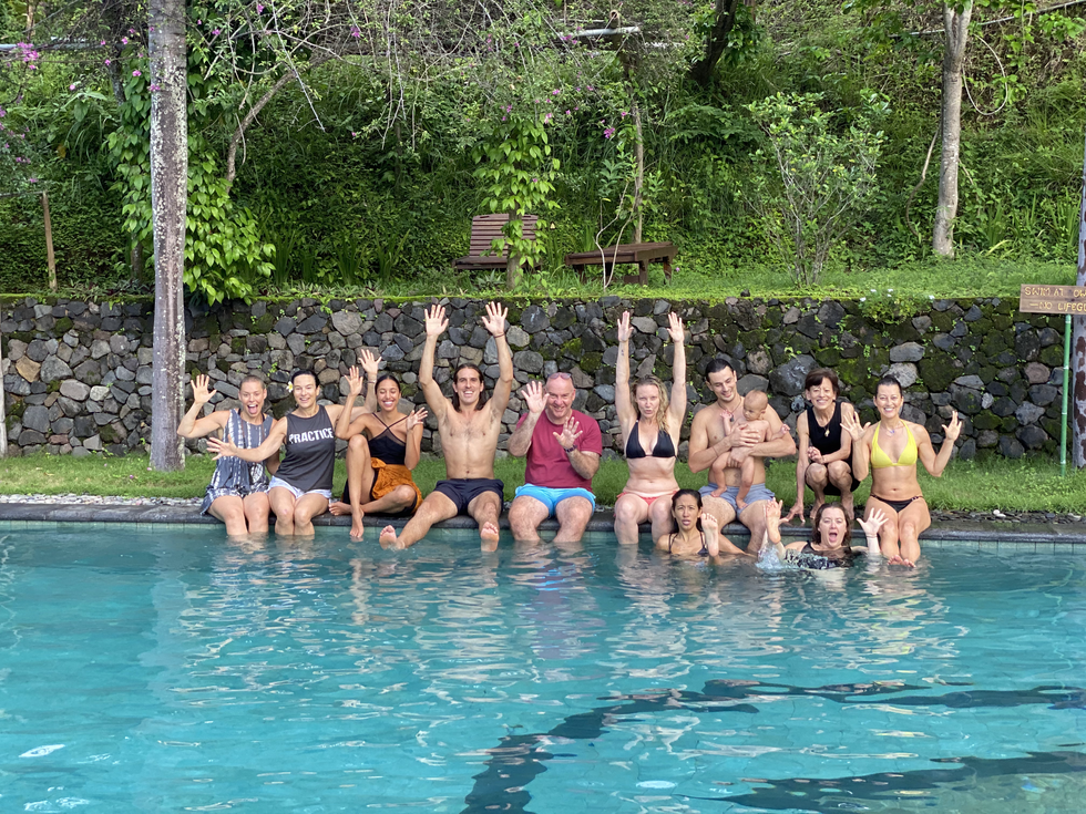 Group in the Pool