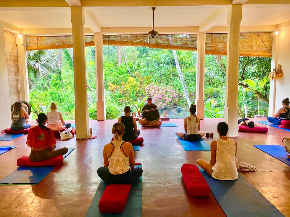 Meditation Class at the Shala