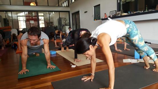 Marja Yoga Plank at Retreat Yoga Class