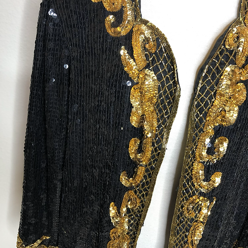 Vintage Sequins Cardigan (XL)