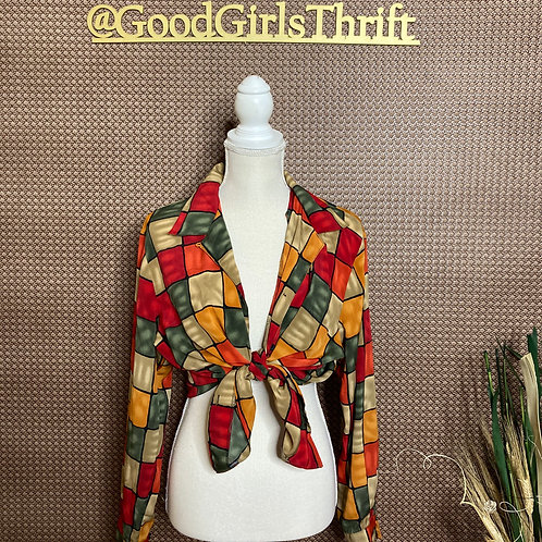 Color Block Squares Blouse