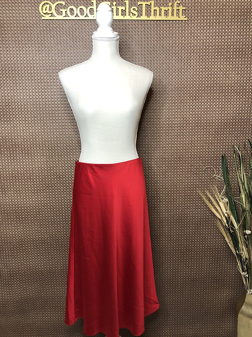 Red Flowy Skirt (Sz M/L)