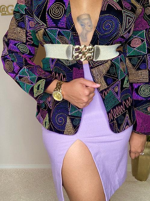 Lavender High Waist Mini Skirt (S/M)
