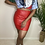 Thumbnail: Faux Leather Skirt (S/M)
