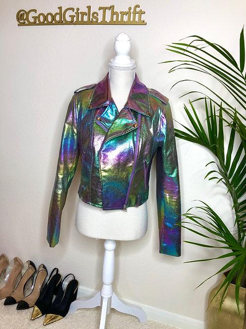 Unicorn Faux Leather Jacket (M/L)