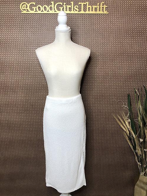 White Sequins Skirt (M)