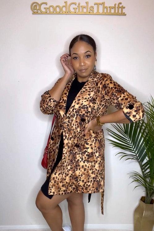 Cheetah Girl Trench (S/M)