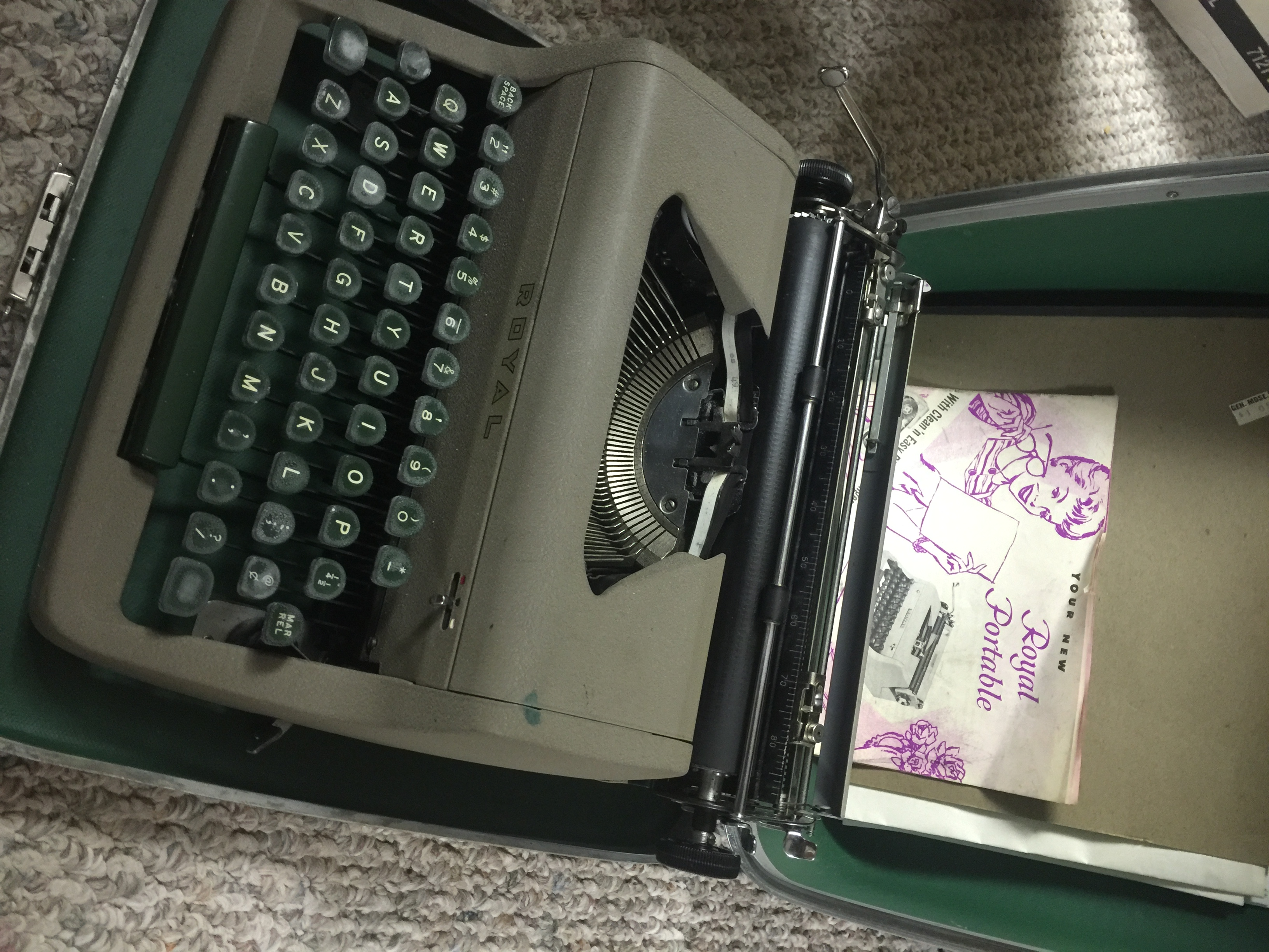 vintage type writter