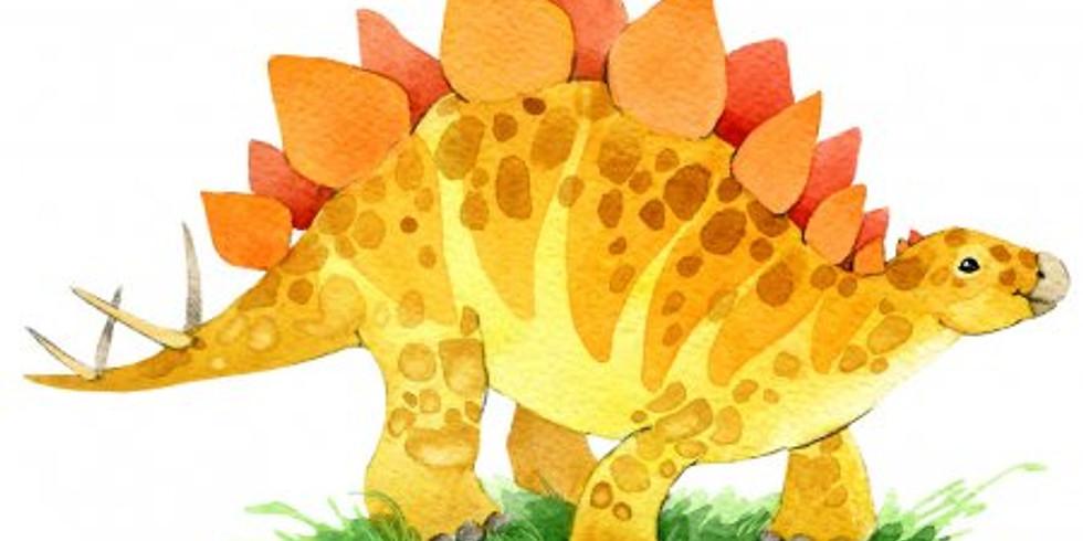 Урок рисования: Динозавр. Дети 4-5 лет