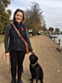 Pippa, dog trainer and her dog