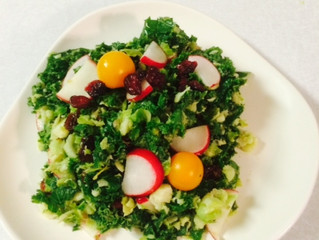 Brussel Sprouts and Kale salad