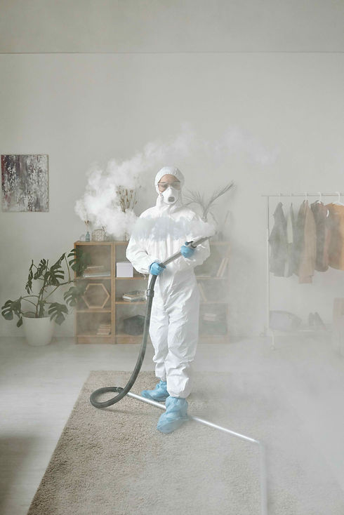 Photograph of a Cleaner cleaning a comme