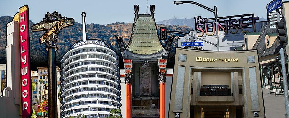 Landmarks seen on the tour.