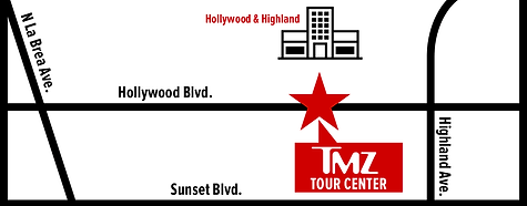 TMZ Tour Center on Map