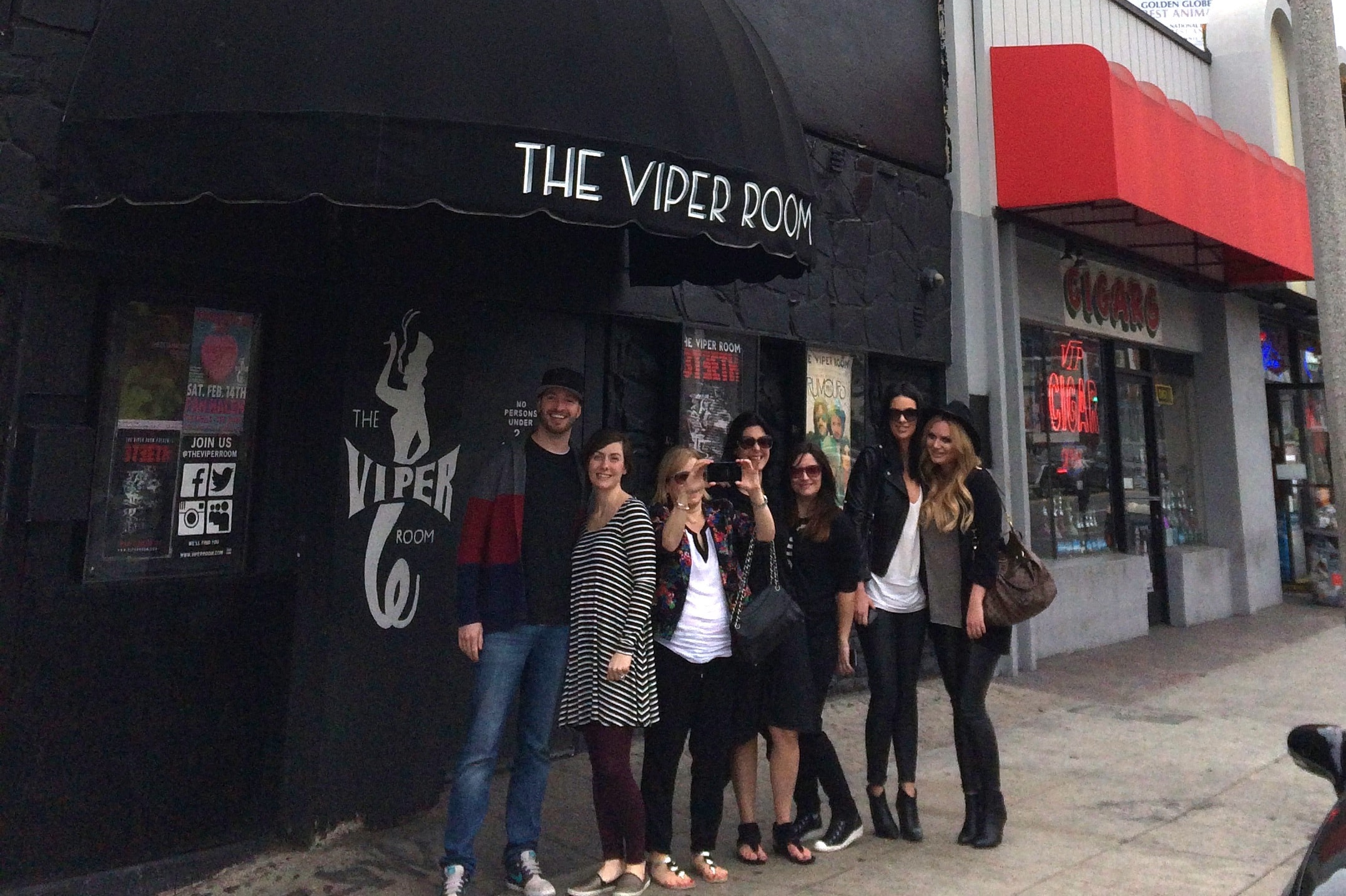 Group in front of The Viper Room