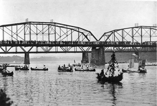 Canoes on the Susquehanna River, c. 1912