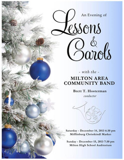 2013 Holiday Concert Poster