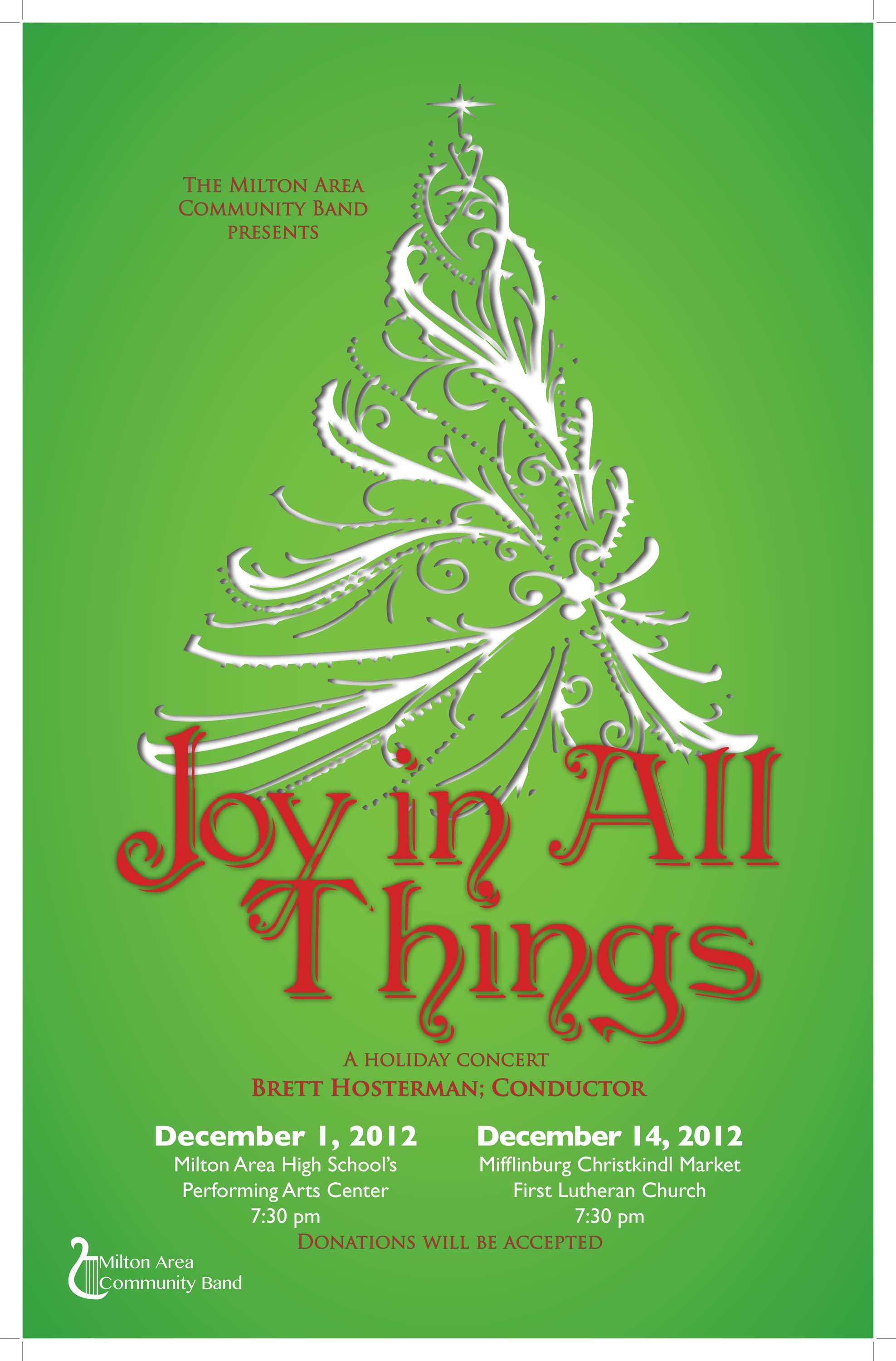 2012 Holiday Concert Poster