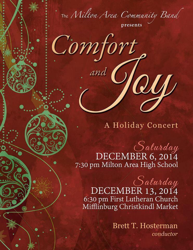 2014 Holiday Concert Poster