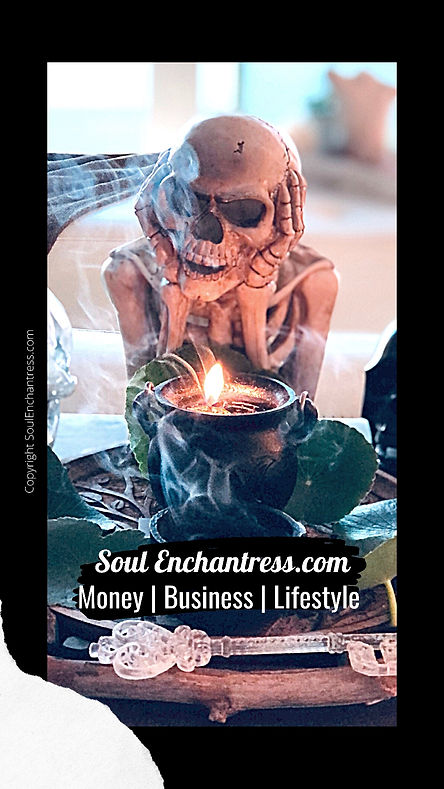 Soul Enchantress, business psychic, psychic medium, ancestors, muerte, overcoming limiting beliefs about money, introverts and money, introvert entrepreneurs, sorceress, seer, shaman, starseeds, wisdom codes
