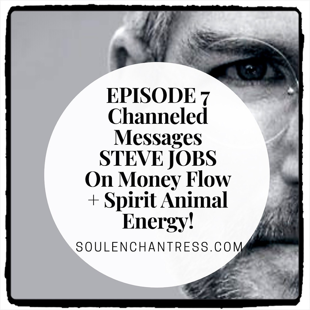 steve jobs, steve jobs on making money, steve jobs channeled message, soul enchantress, animal spirit