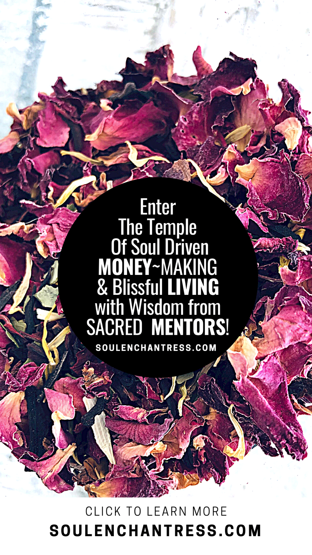 soul enchantress, sacred money making, wisdom codes, peaceful living