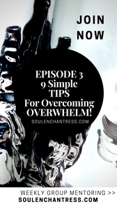HOW TO OVERCOME OVERWHELM, 9 TIPS FOR ANXIETY RELIEF, SOUL ENCHANTRESS, HOW TO MANIFEST WHAT YOU WANT, MANIFESTATION MENTOR