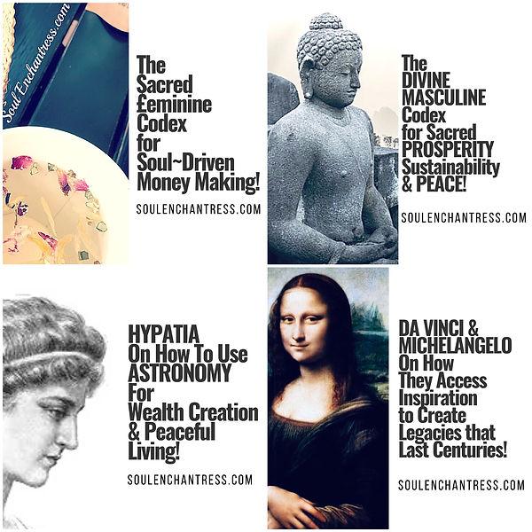 Soul Enchantress, sacred feminine, divine masculine, great library of alexandria