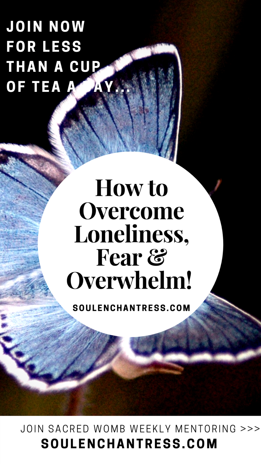 how to overcome loneliness, how to overcome fear, how to overcome overwhelm, soul enchantress, how to live a blissful life