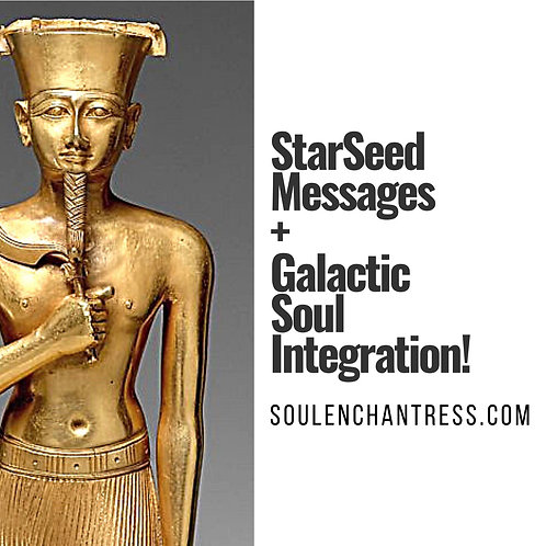 STARSEED MESSAGES  OR GALACTIC SOUL INTEGRATION ~ PRIVATE SESSION