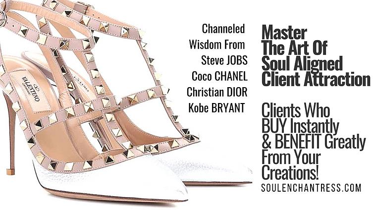 sacred client attraction, steve jobs, chanel, dior, kobe bryant, soul enchantress,