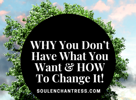 WHY YOU DON'T HAVE WHAT YOU WANT & HOW TO CHANGE IT!