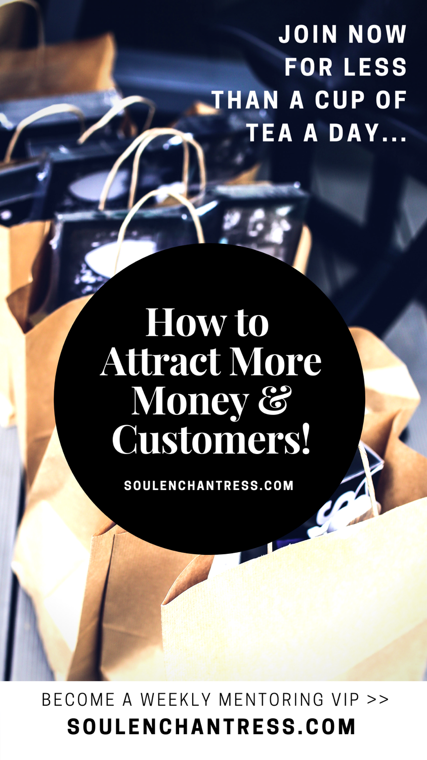 how to attract more customers, how to attract more money, business mentoring for introverts, soul enchantress