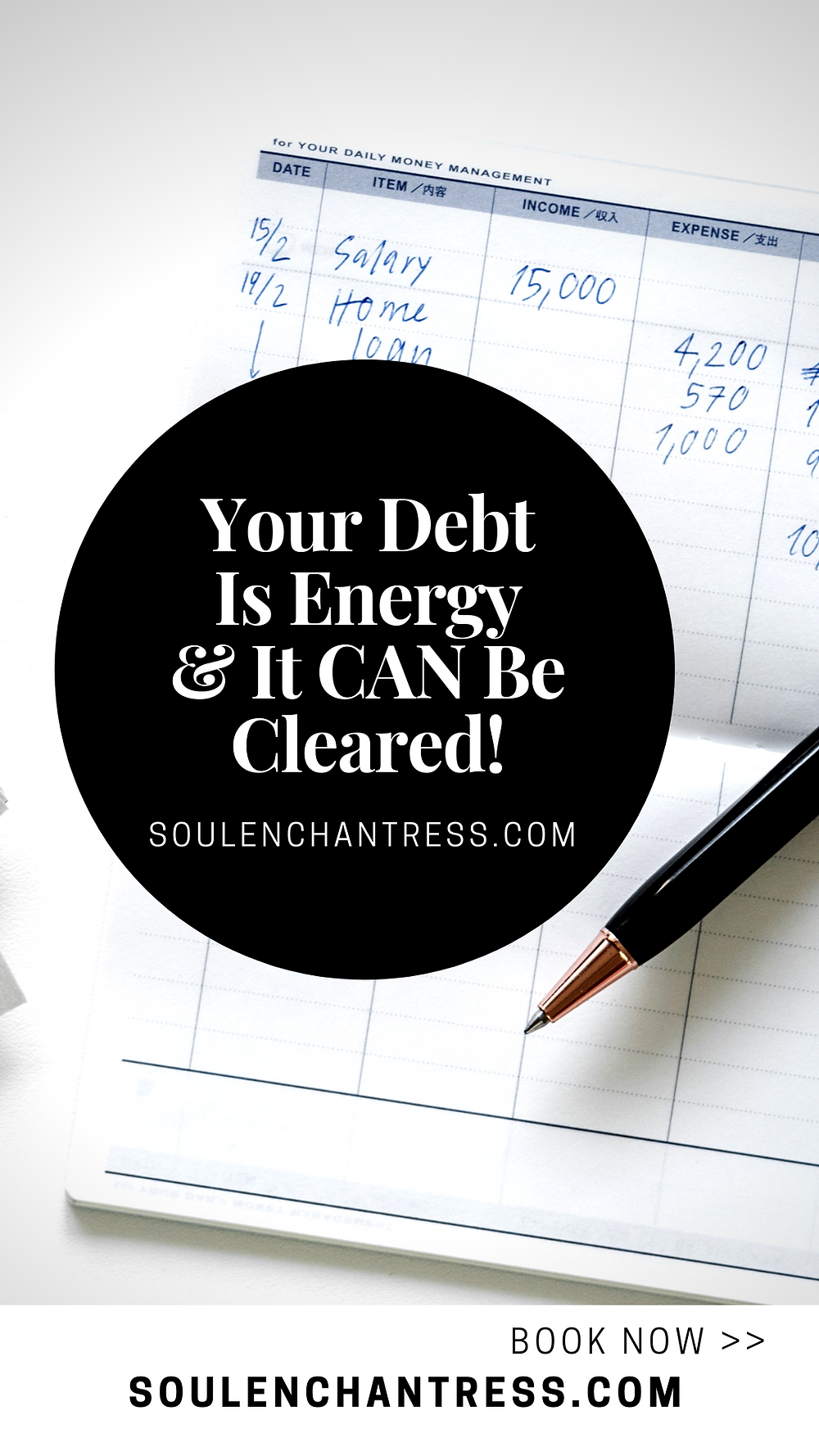 how to clear debt, how to attract money easily, paying off credit card debt, paying off debt in 6 months, soul enchantress