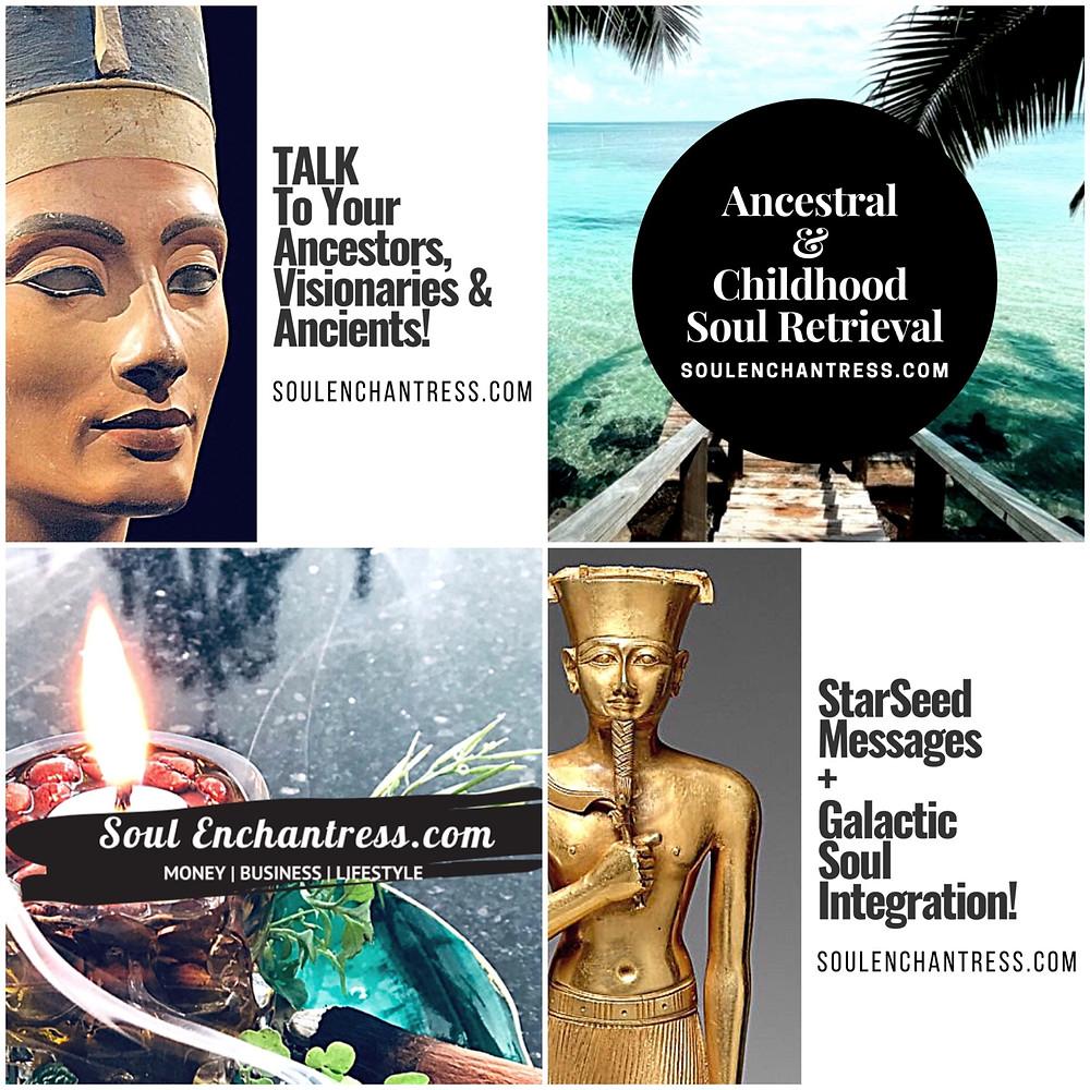 Soul Enchantress, Prince Harry Ancestral Healing, Psychic medium,
