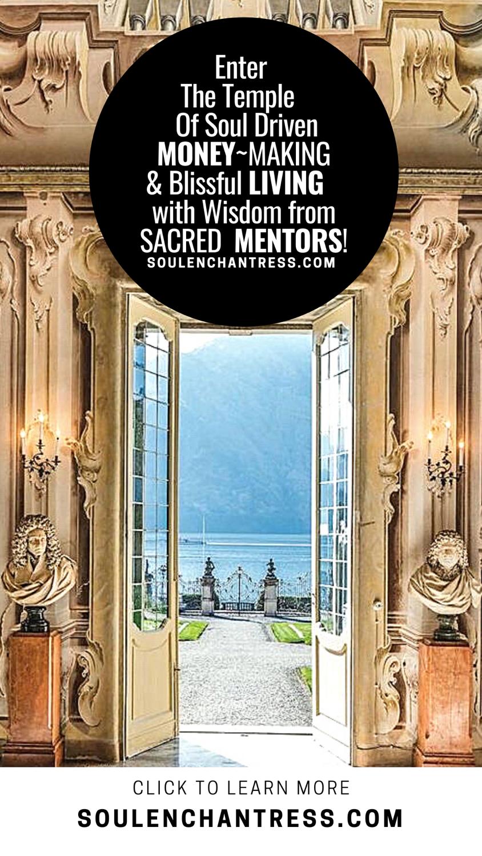 soul enchantress, wisdom codes, sacred money making, peaceful living