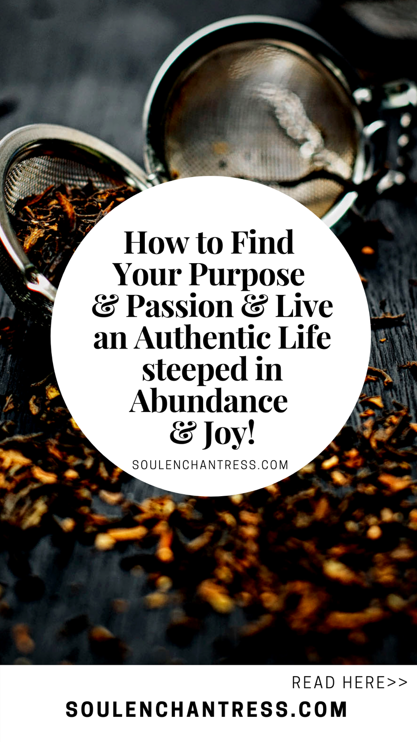 how to find your purpose in life, finding your passion, how to attract abundance and joy, soul enchantress, authentic living