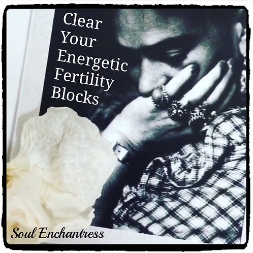 CLEAR YOUR ENERGETIC FERTILITY BLOCKS ~ PRIVATE SESSION