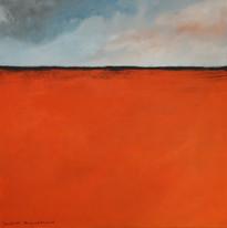 Orange mit Wolken