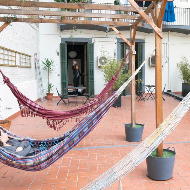 Sunny Terrace with hammocks