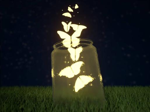 Butterflies in Mason Jar
