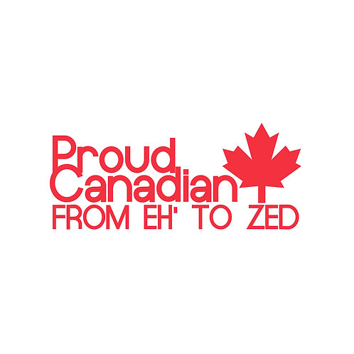 DECAL - Proud Canadian