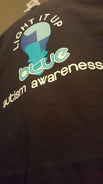 light it up blue autism awareness t-shirt