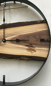 Live edge clock with custom engraving.jp