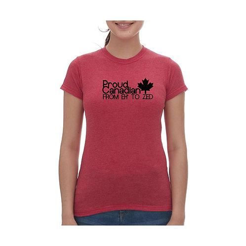 Proud Canadian Tee - Ladies
