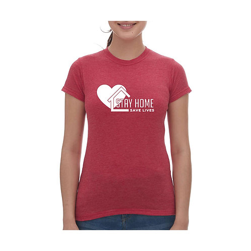 Stay Home Save Lives Tee - Ladies