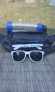 logo printed waterbottle fanny pack sunglasses